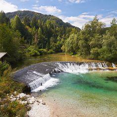 Radovna river scenery, Slovenia