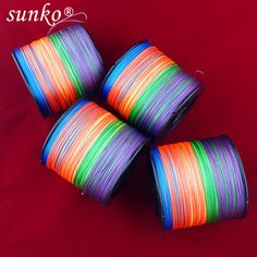 Enough 500M SUNKO Brand 8 10 20 30 40 50 60 70LB Super Strong Japanese colorful Multifilament PE Material Braided Fishing Line free shipping worldwide