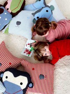 Cojines de Franck and Fischer para decorar las habitaciones infantiles.
