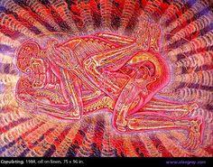 Alex Grey Beyond Art – Fractal Enlightenment Alex Grey, Alex Gray Art, Grey Art, Tantra, Psychedelic Art, Etched Mirror, Visionary Art, Mandala, Science Art