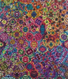 Artist of the Day  Philip Taaffe  Large Cairene Window 2010 Mixed media on canvas 137 1/2 × 118 1/2 in 349.3 × 301 cm