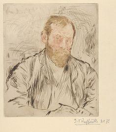Jean-François Raffaëlli (French, 11850–1924). Self-Portrait (from L'Estampe originale, Album II), 1893. The Metropolitan Museum of Art, New York. Rogers Fund, 1922 (22.82.1-17)