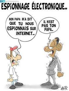 Espionnage électronique  #caricature #humour #dessin #actualité #usa #obama