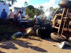Blog Paulo Benjeri Notícias: Acidente envolvendo uma carreta e sete veículos na...