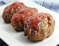 Biggest Loser Tara's Turkey Mini-Meatloaf Recipe, Free Healthy Biggest Loser Recipes To Help With Your Biggest Loser Diet Plan. Mini Turkey Meatloaf, Mini Meatloaf Recipes, Cheesy Meatloaf, Ww Recipes, Turkey Recipes, Cooking Recipes, Healthy Recipes, Skinny Recipes, Healthy Habits