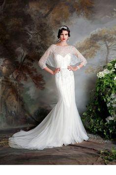 Une robe de mariée esprit années 50