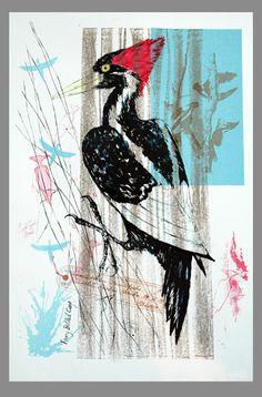 linocut print By Kate Fortune Jones