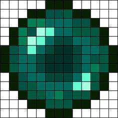 Ender Pearl Perler Bead Pattern / Bead Sprite