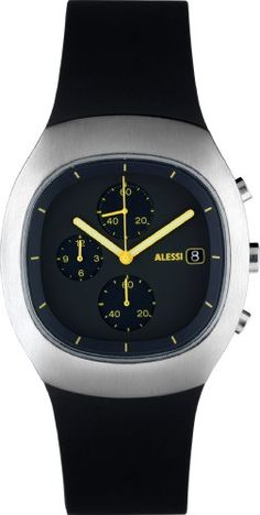 Alessi Unisex AL21002 Black and Silver Analog Sport Watch * Continue reading at the image link.