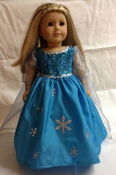 Disney inspired Frozen Snow Queen American by BamaYellowBelles, $39.00