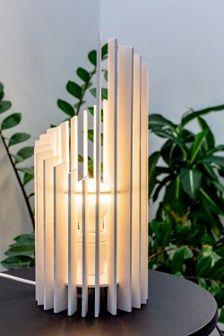 Wood white or black wood desk and bedside lamp Table Lamp Wood, White Table Lamp, Wooden Lamp, Desk Lamp, Wood Desk, White Bedside Lamps, Bedside Night Lamps, Luminaire Design, Lamp Design