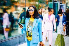 Eyeglasses Street Style Spotted at NYFW Spring 2018 Glasses Sunglasses Instagram Celebrity Influencer Fashion Eyeglasses Eyewear