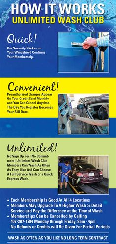 10 best unlimited car wash club images on pinterest car wash club imagine how awesome it would be to just pull up to the cash wash any time solutioingenieria
