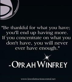 Oprah Gratitude