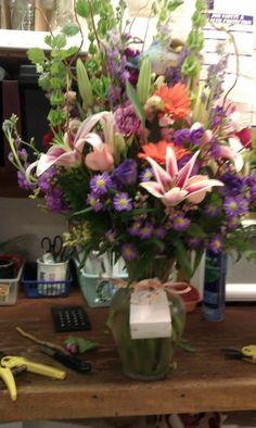 Beautiful vase arrangement