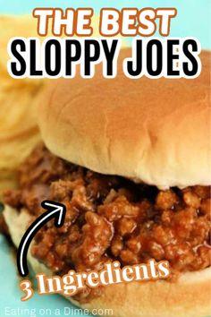Quick Sloppy Joe Recipe, Sloppy Joe Recipe Pioneer Woman, Homemade Sloppy Joe Recipe, Homemade Sloppy Joes, Sloppy Joes Recipe, Deer Burger Recipes, Meat Recipes, Hamburger Recipes, Cooking