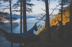 """""""I felt my lungs inflate with the onrush of scenery. I thought: this is what it is to be happy. Hammock Tent, Tree People, Lungs, Camping Gear, Places To Go, Scenery, Felt, Mountains, Happy"""