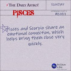 good thing i married a scorpio! Pisces Woman Scorpio Man, Scorpio And Pisces Relationship, Scorpio Men In Love, Virgo And Sagittarius, Pisces Sign, Astrology Pisces, Scorpio Quotes, Pisces Facts, Pisces Zodiac