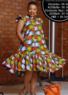 Short African Dresses, African Print Dresses, African Print Fashion, African Fashion Dresses, Xhosa Attire, African Attire, African Wear, African Women, Shweshwe Dresses