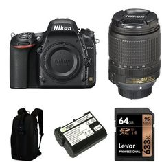 Nikon D750 FX-Format DSLR Camera with 18-140mm Lens Accessory Bundle...