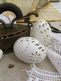 hand carved eggshells