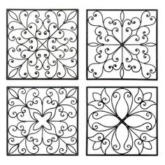 Designs for my toilet paper roll wall art :) - DIY @ Craft's Toilet Paper Roll Art, Paper Wall Art, Toilet Paper Roll Crafts, Paper Paper, Wrought Iron Wall Decor, Iron Decor, Origami, Simple Wall Art, Easy Wall