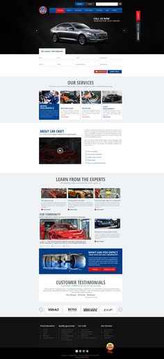 """""""Car Craft is a car's selling & purchasing website""""  We create a new website design for this company using latest web trends and standards. Please look at this and write few lines of feedback. Visit: http://mindlogicsinc.com/"""