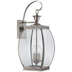 Quoizel Oasis Pewter Outdoor Wall Lantern - #3T194 | LampsPlus.com