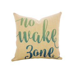 No Wake Zone Throw Pillow, Burlap Nautical Pillow by TheWatsonShop on Etsy https://www.etsy.com/listing/288589819/no-wake-zone-throw-pillow-burlap