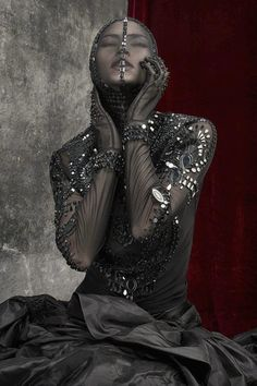 from Dark Side of the Moon designs by Michael Cinco for L'Officiel, 2012