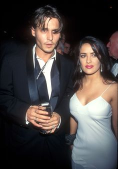 Johnny Depp and Salma Hayek