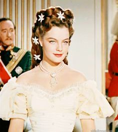 Romy Schneider as Sissi (Ludwig) Sissi Film, Impératrice Sissi, Princesa Sissi, Empress Sissi, Kaiser Franz, She's A Lady, Elegant Hairstyles, Golden Age Of Hollywood, Princesses