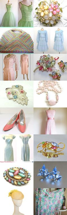 Spring loves #pastels ❤  #etsy #vintage #vtg #jewelery #fashion #clothing #accessories #pastel