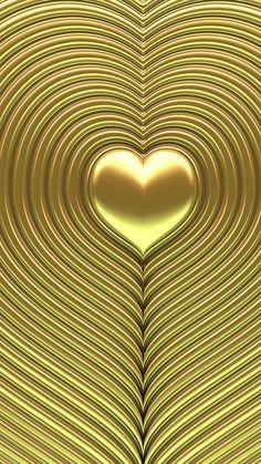 I heart love hearts. Golden Wallpaper, Heart Wallpaper, Love Wallpaper, Cellphone Wallpaper, Wallpaper Backgrounds, Iphone Wallpaper, Wallpapers, Heart Of Gold, Love Heart