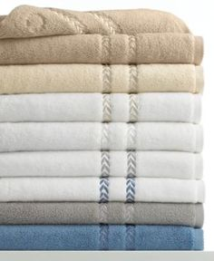 "Lenox Bath Towels, Pearl Essence Pima Cotton 13"" Square Washcloth - Ivory/Cream"