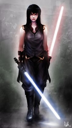 Dark Jedi by MeganeRid gray female swordmage armor clothes clothing fashion player character npc | Create your own roleplaying game material w/ RPG Bard: www.rpgbard.com | Writing inspiration for Dungeons and Dragons DND D&D Pathfinder PFRPG Warhammer 40k Star Wars Shadowrun Call of Cthulhu Lord of the Rings LoTR + d20 fantasy science fiction scifi horror design | Not Trusty Sword art: click artwork for source