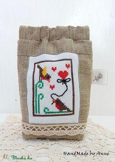 Meska - Xszemes szerelmes madárkák - pik-pak záras tarsoly annetextil kézművestől