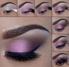 Beautiful eye make up.especially for brown eyes,i Beautiful eye make up.especially for brown eyes,i think. Beautiful eye make up.especially for brown eyes,i think. Eye Makeup Diy, Smokey Eye Makeup Look, Pink Smokey Eye, Purple Eye Makeup, Eyeshadow Makeup, Makeup Tips, Makeup Ideas, Makeup Tutorials, Smoky Eye