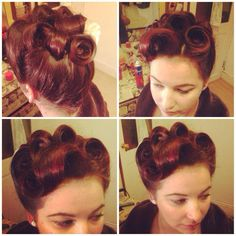 Vintage poodle style updo by Sarah's Doo-Wop Dos  www.doowopdos.co.uk