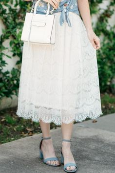 2beecadcd63 Daisy Top   Lace Skirt   Summer Style   Fashion   Outfit Ideas Only Fashion