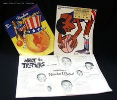 Signed Harlem Globetrotters ephemera circa 1960s & 1970s incl programme and tickets