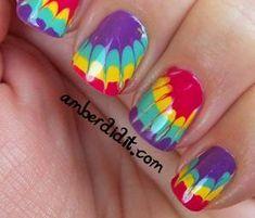 Tie Dye Nails: Manicure Tutorial