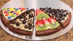 Pizza de Brownie con Nutella y Chocolate