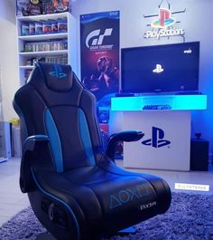 Amazing setup gaming with the Playstation. Rate this design : Computer Gaming Room, Gaming Room Setup, Pc Setup, Gamer Setup, Gaming Rooms, Playstation, Xbox, Video Game Rooms, Game Room Design