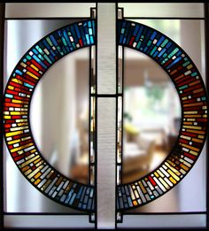 contemporary circular stained glass modern glasgow