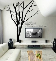 Wall Decal Wall Sticker tree decal Vinyl decal- Giant Winter Tree-wall art-DK030. $69.00, via Etsy.