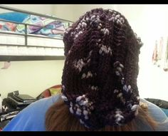 Slouchy hat (back view)