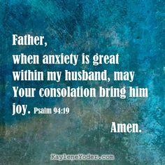 ✔️Prayer that Your Husband will Live in Joy - Kaylene Yoder Prayers For My Husband, Praying Wife, Prayer For Husband, Prayer For Family, Love My Husband, Amazing Husband, Future Husband, Prayer Scriptures, Bible Prayers