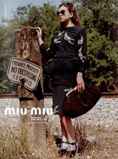 d4c73159912f Hailee Steinfeld by Bruce Weber for Miu Miu Fall  Winter 2011 campaign.