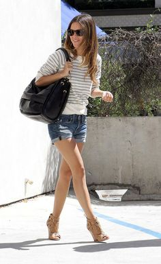 Rachel Bilson- i like how she pulls off shorts with heels while keeping it casual and classy